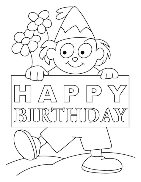 coloring birthday cards birthday card coloring pages az coloring pages