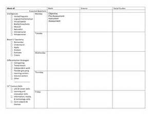 differentiation lesson plan template differentiated lesson plans for middle school math the