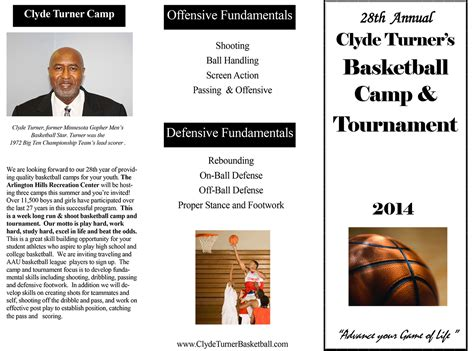 basketball c brochure template summer basketball c brochure design by sozo creative quotes high quality template