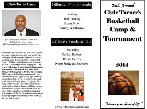 summer basketball c brochure design by sozo creative