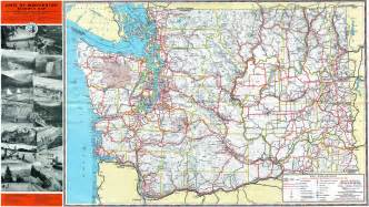 Washington State Highway Map by 1952 Washington State Highway Map Check Out More Of My
