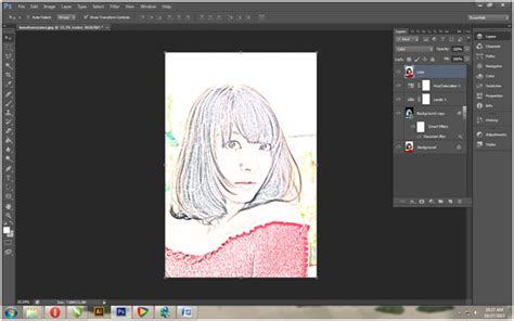 tutorial desain grafis photoshop cs6 desain grafis tutorial photoshop membuat efek sketsa