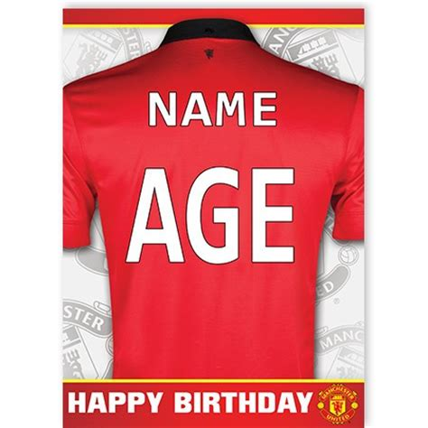 Manchester United Birthday Card Template by Manchester United Quickclickcards