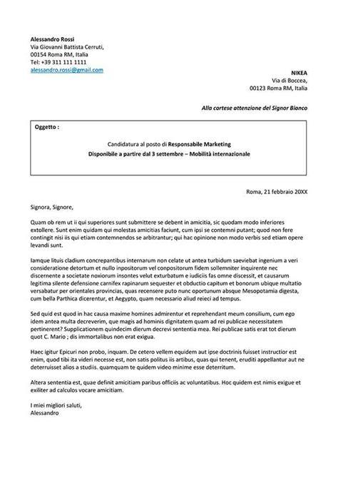 lettere di presentazione lavoro lettera di presentazione per un lavoro da compilare
