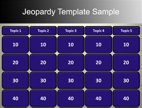 Jeopardy Review Powerpoint Template jeopardy powerpoint templates free ppt pptx documents