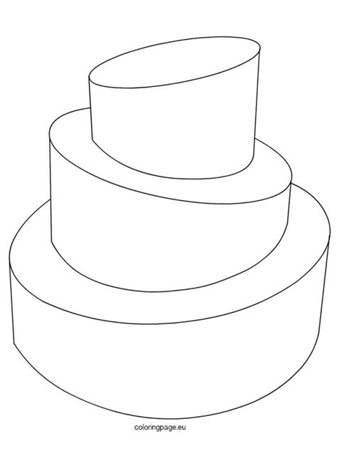 wedding cake template coloring page
