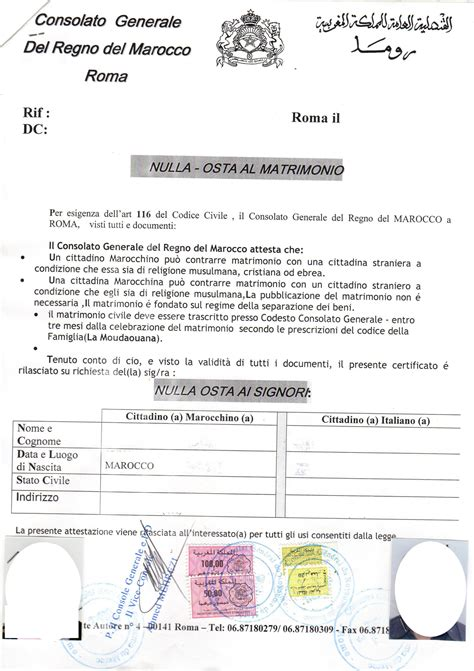 consolato spagnolo a bologna il matrimonio misto italia marocco procedura completa
