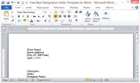 Resignation Letter Template Microsoft Word Search Results Calendar 2015 Free Letter Templates With Picture Insert