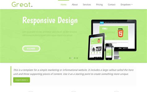 great responsive html5 business template bootstrap