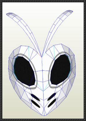 Hollow Mask Papercraft - mashiro kuna hollow mask free papercraft