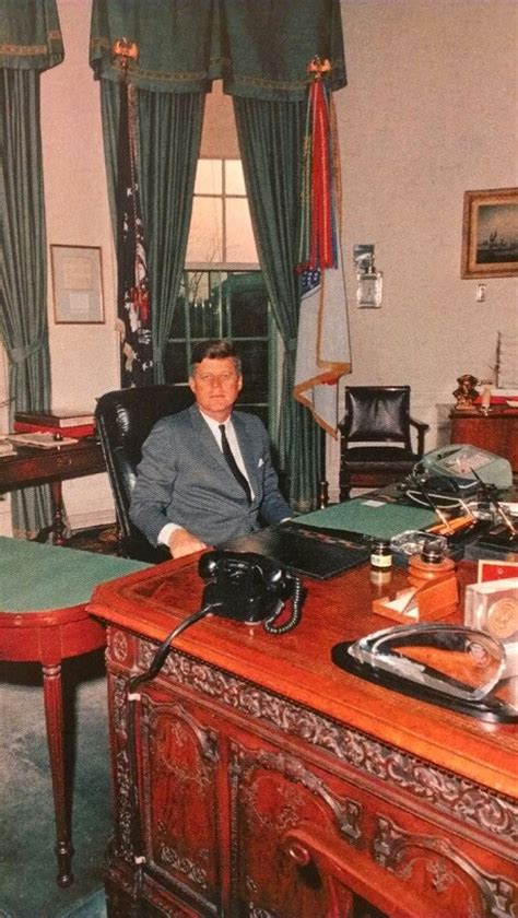 kennedy oval office jfk at his oval office desk camelot john jackie