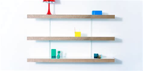 The Shelf System by Oak Shelving Systems White Rails On On
