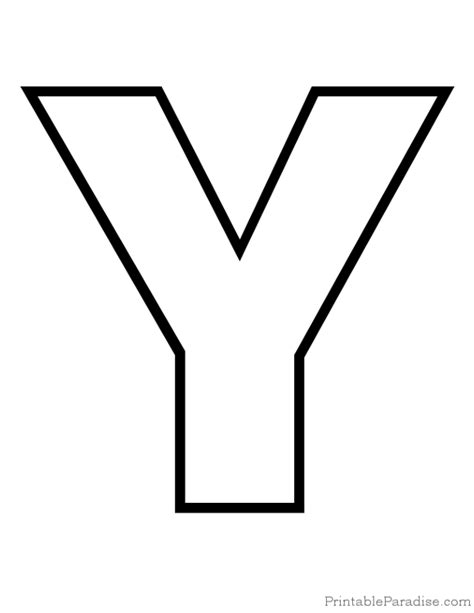 letter y template 4 best images of printable letter y template free
