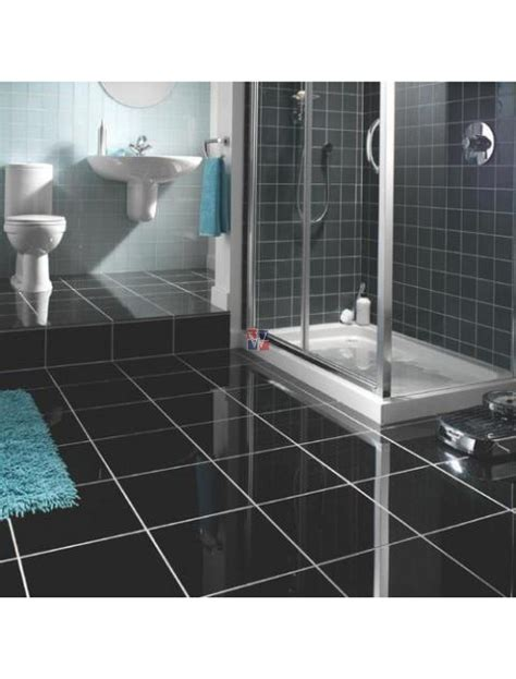 marvelous Penny Tile Bathroom Floor #4: premiumblack12x12_c_1.jpg