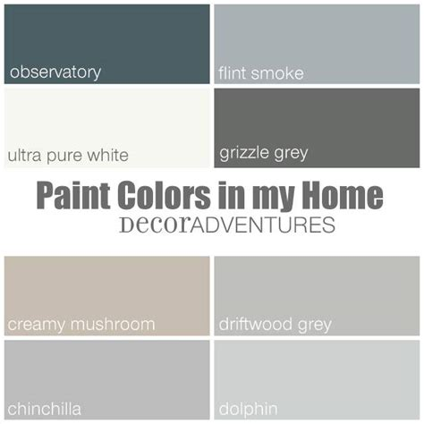 paint colors in my home free printable 187 decor adventures