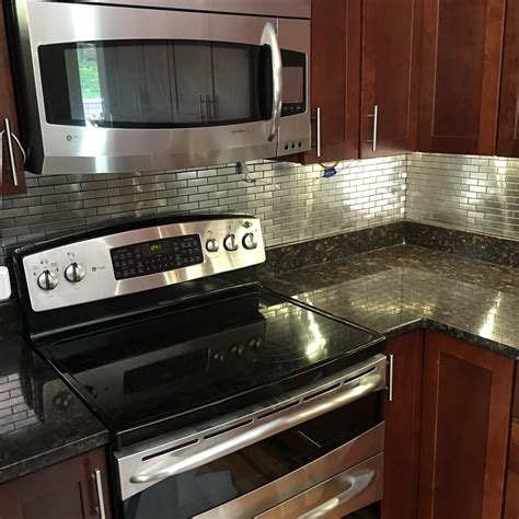stainless steel kitchen backsplash stainless steel 1x3 backsplash subway tile outlet