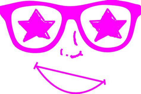 purple star glasses face clip art  clkercom vector