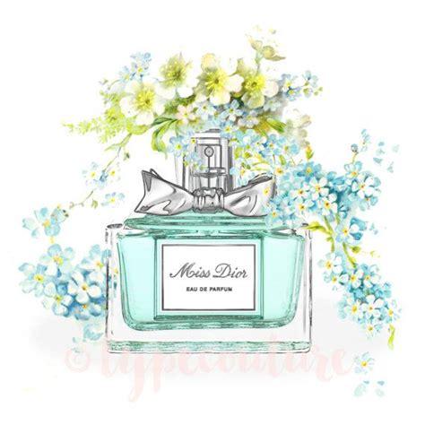 Miss Perfume Bottle instant watercolor miss perfume bottle