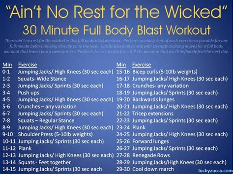 aint no rest for the wicked ain t no rest for the wicked whole body conditioning