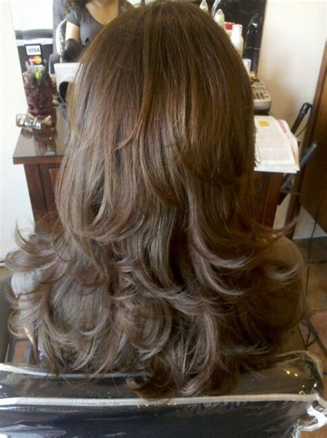 long layers cut towards the back layer haircut bee u tuh full pinterest hair with