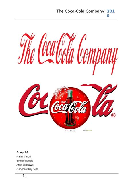 firma coca cola organizational structure of the coca cola company