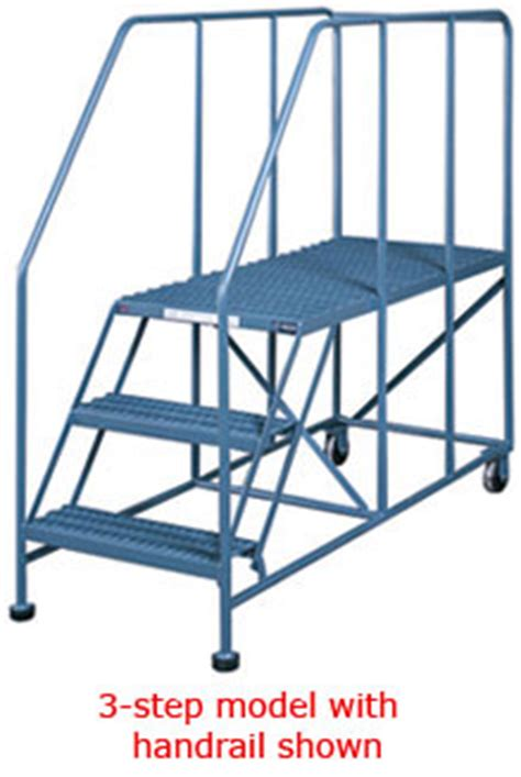 "mobile platform ladders rolling 40"" tall work platform"