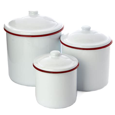 28 white enamel kitchen canisters set white enamel