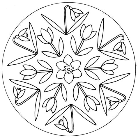 spring flowers mandala for pre k kindergarten and