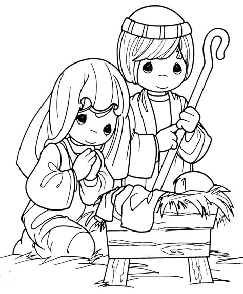 cute nativity coloring pages christmas coloring pages nativity precious moments color
