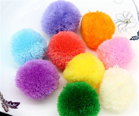 Handmade Pom Pom Decorations - 150pcs big 40mm mix color pom pom pompom yarn pom