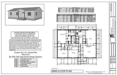 Free Download Plan 191sds Habitat For Humanity House 1400 Habitat For Humanity House Plans