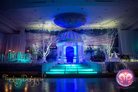 Home Lighting Design Blog by Vip Quince In Miami Florida Winter Wonderland Theme Stage