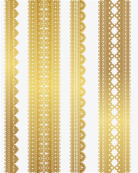 gold pattern material gold lace pattern vector material golden pattern lace