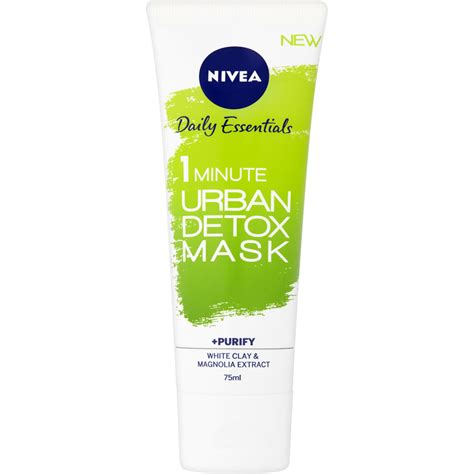 How To Use Brown Instant Detox Mask by Nivea Daily Essentials 1 Minute Detox Mask 75ml At