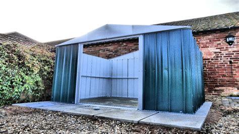 yardmaster metal garden shed build stop motion timelapse