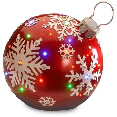 national tree company 18 quot red jeweled ornament with