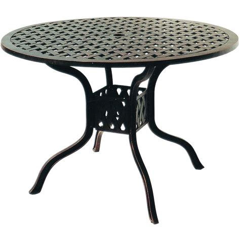 Darlee Series 30 42 Inch Cast Aluminum Patio Dining Table