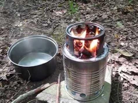 diy ultralight wood burning camp stove bush buddy