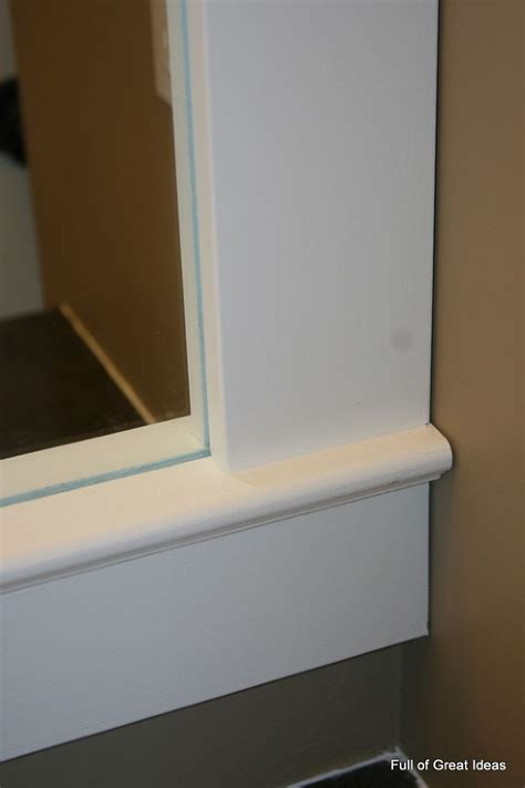 Hometalk How To Upgrade Your Builder Grade Mirror Framing A Bathroom Mirror With Moulding