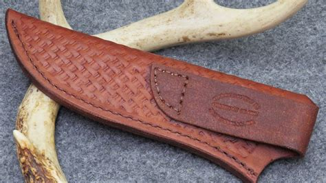 Handmade Leather Knife Sheaths - custom large genuine leather knife sheath light brown