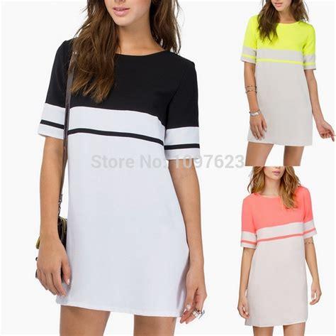 comfortable women s clothing casual home dress summer 2015 black yellow highlight dress
