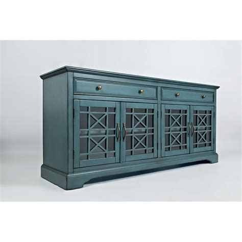 Jofran Craftsman 70 Quot Console Table In Antique Blue 175 9 70 Inch Buffet Table