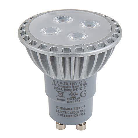 Led Light Bulbs Wattage Gu10 Led Bulb 35 Watt Equivalent Bi Pin Led Spotlight Bulb Led Track Lighting