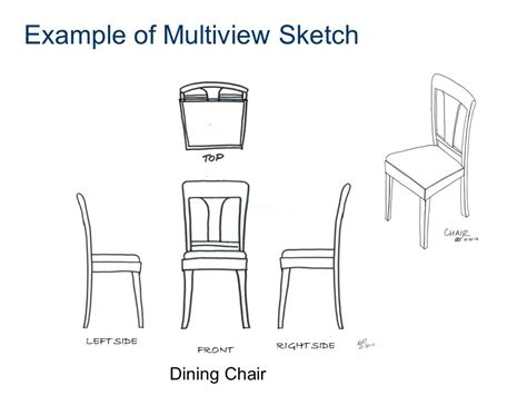 chair side view drawing multiview sketching multiview sketching ppt