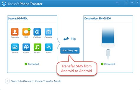 transfer info from android to android how to transfer sms from android to new android phone
