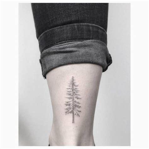 tree line tattoo line pine tree on the right achilles heel
