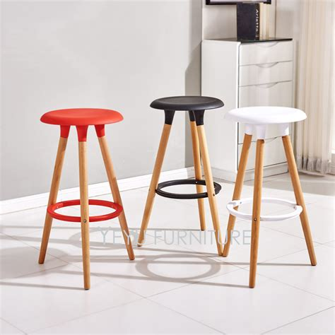 minimalist bar stools minimalist modern design plastic and solid wood bar stool