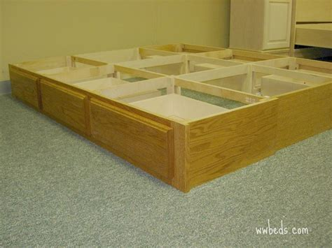 Build Your Own Bed Frame With Drawers Beds With Drawers Bed Drawer Pedestal Drawer Unit Pinterest Bed