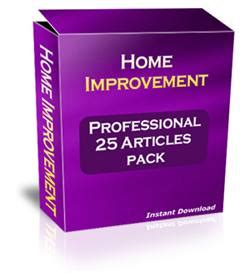 professional 25 home improvement plr articles pack