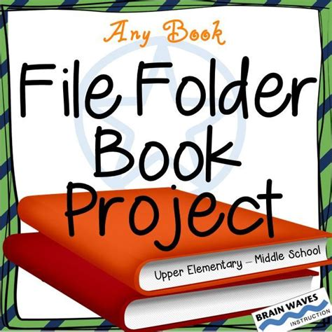 file folder book report book report file folder reading project book project